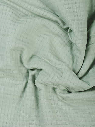 Green Handloom Cotton Fabric