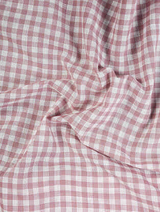 Pink-Ivory Handloom Cotton Fabric