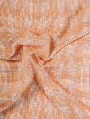 Orange Handloom Cotton Fabric
