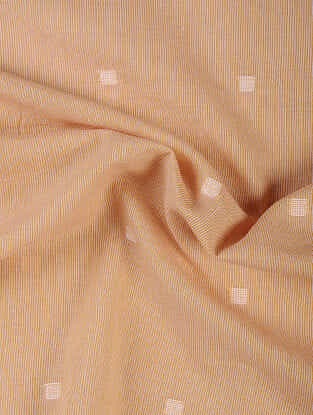 Orange Handloom Jamdani Cotton Fabric