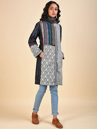 Multicolored Patchwork Denim and Cotton Jacket