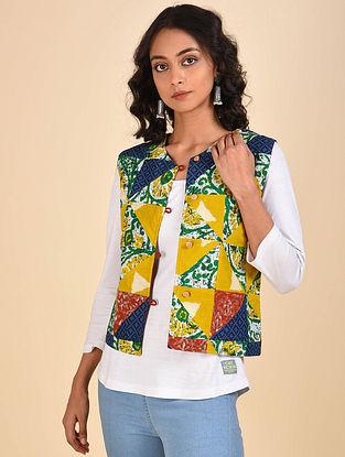 Multicolored Patchwork Cotton Jacket
