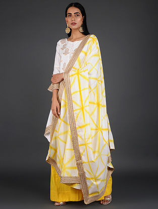 Yellow Hand-Dyed Cotton Dupatta