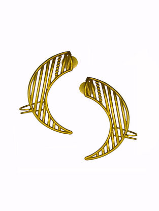Classic Gold Tone Brass Earrings