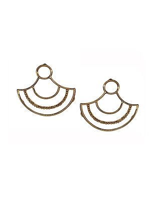 Rose Gold Brass Earrings