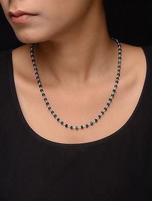 Jade Beaded Silver Necklace