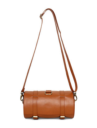 Brown Handcrafted Sling Bag