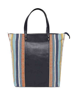 Multicolored Jacquard Tote