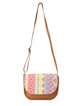 Multicolored Jacquard Sling Bag