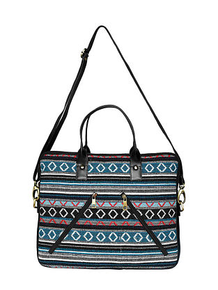 Multicolored Handcrafted Jacquard Laptop Bag