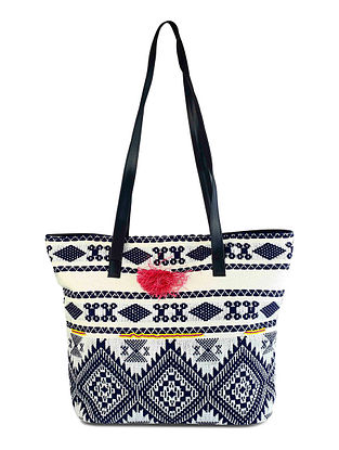 Multicolored Handcrafted Jacquard Tote Bag