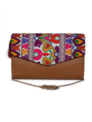 Multicolored Handcrafted Jacquard Envelope Clutch