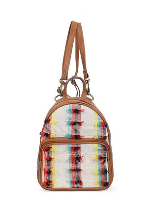 Multicolored Handcrafted Jacquard Backpack