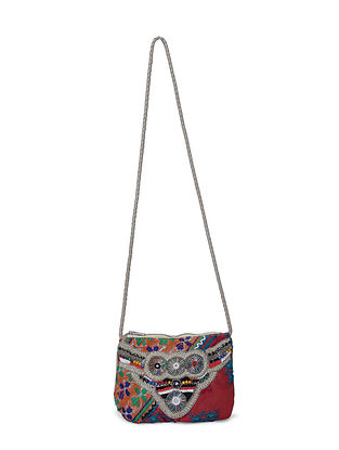 Multicolored Vintage Sling Bag with Beads