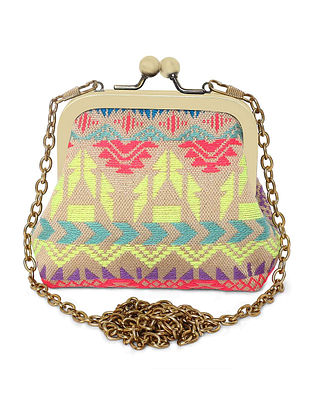 Multicolored Handcrafted Jacquard Coin Pouch