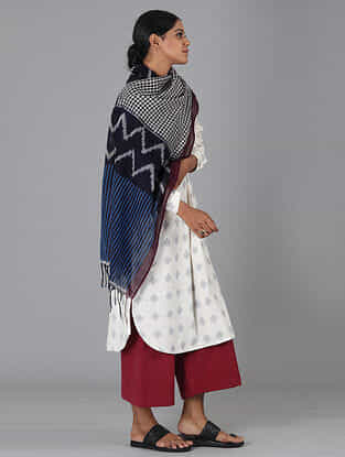 Multicolored Handwoven Ikat Cotton Stole