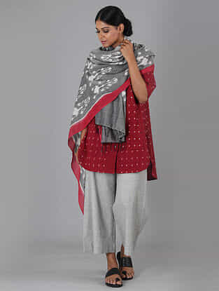Red Handwoven Ikat Cotton Top
