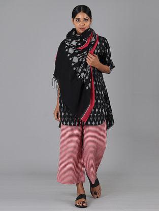 Black Handwoven Ikat Cotton Top
