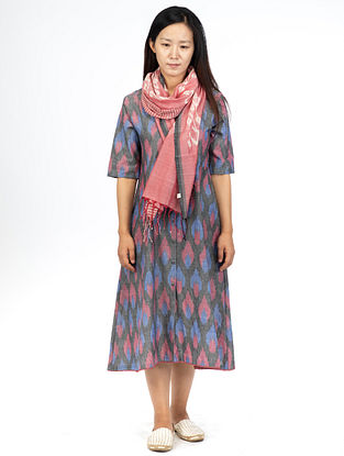 Grey Bloom Button Down Dress