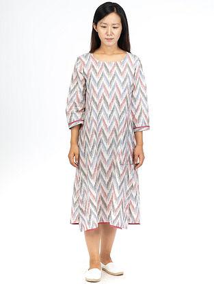 White Fern A-Line Dress