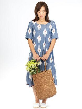 Blue Floret A-Line Dress