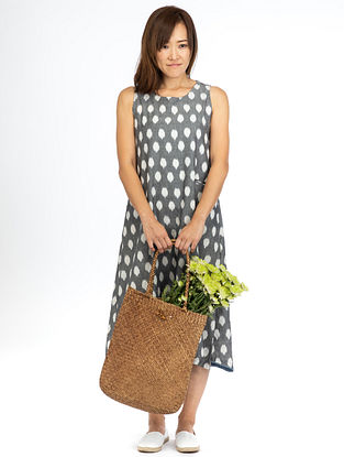 Grey Polka Sleeveless Dress