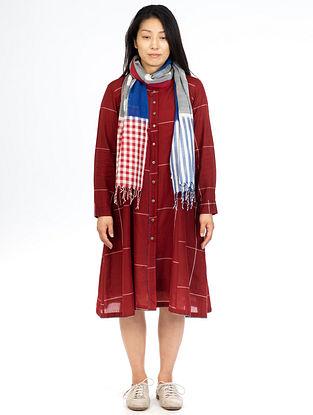 Red Checks Button Down Jacket Dress