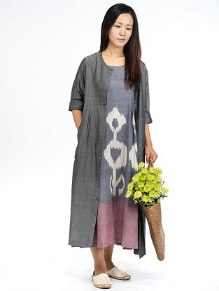 Grey Chambray Maxi Dress