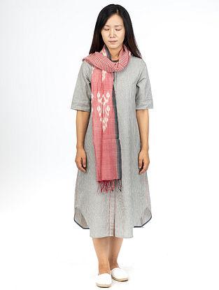 Grey Chambray Stripes Open Long Dress
