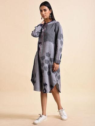 Shot Paisley Indigo Handwoven Ikat Cotton Dress