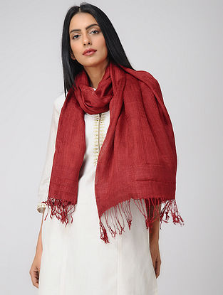 Red Natural-dyed Mulberry Silk Stole