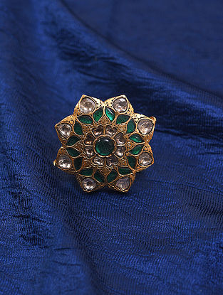 Green Gold and Diamond Ring (Ring Size: 8.5)