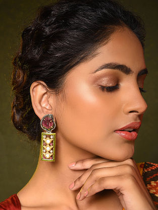 Gold and Daimond Earrings with Tourmaline