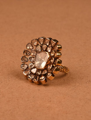 Gold and Diamond Ring (Ring Size: 7)