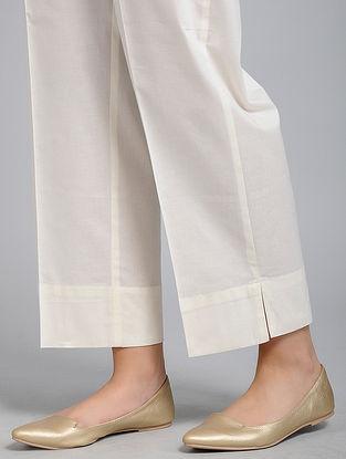 Ivory Cotton-Cambric Pants