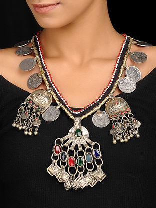 Multicolored Dual Tone Handcrafted Vintage Necklace