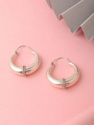 Tribal Silver Hoop Earrings