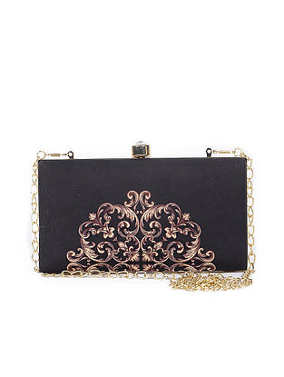 Black-Brown Handcrafted Clutch