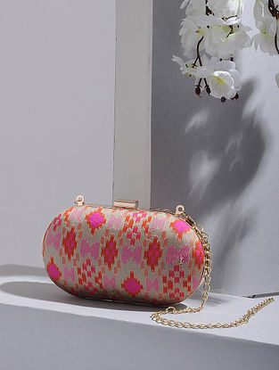 Multicolored Handcrafted Benarasi Silk Clutch