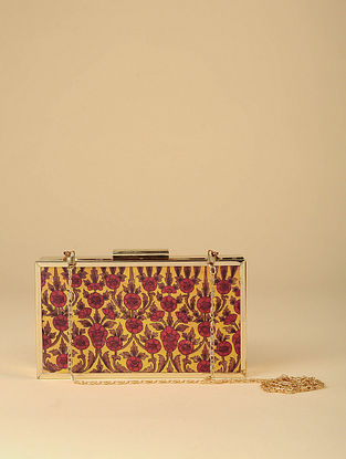 Multicolored Printed Silk Clutch