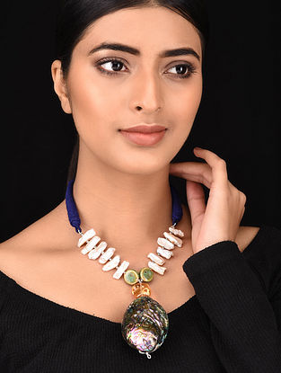 Multicolored Dual Tone Handcrafted Necklace