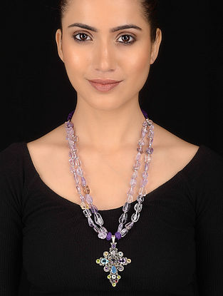 Ametrine Beaded Silver Necklace