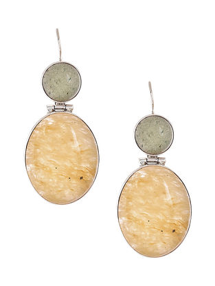 Aventurine and Citrine Silver Earrings