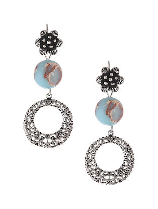 Jasper Silver Earrings