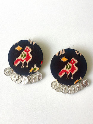 Black-Multicolored Earrings with Coins