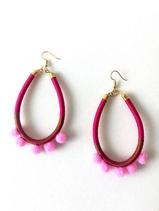 Multicolored Thread Loop Earrings