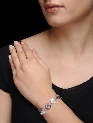 Rhodium Finish Silver Bracelet
