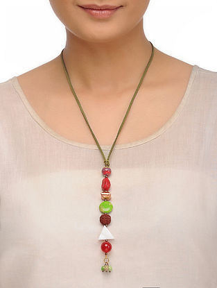 Howlite and Imperial Jasper Necklace