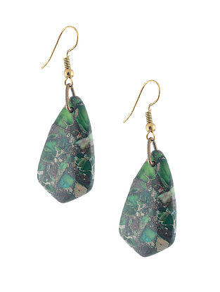 Jasper and Pyrite Earrings