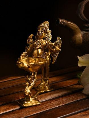 Brass Garuda Aarti Diya (L- 6in, W- 2.5in, H- 5in)